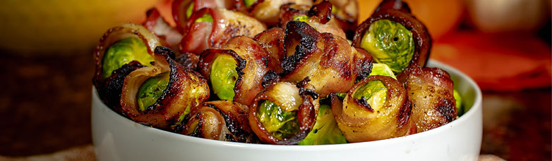 Grilled Bacon Wrapped Brussels Sprouts
