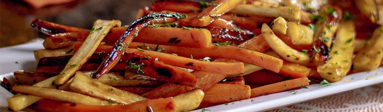 Grilled Honey Glazed Carrots & Parsnips
