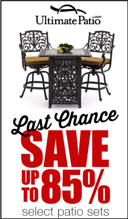 Save up to 85% on select patio sets