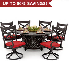 Red, White & Blue <br> Patio Furniture