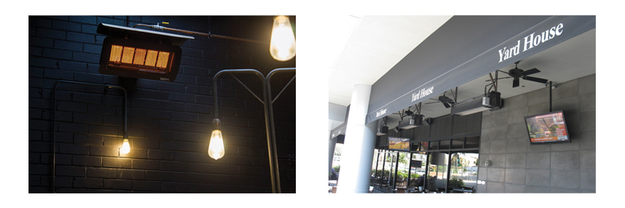 Infratech Flush-mount Ceiling Electric Infrared Patio Heaters - Custom Outdoor Heating System