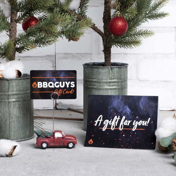 BBQGuys gift cards under the Christmas tree