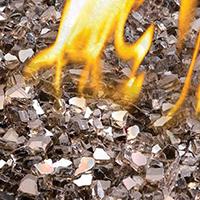 Gas Fireplace Glass Filler