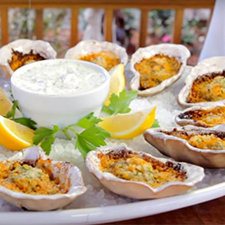 Char-Grilled Buffalo Oysters
