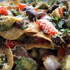 Grilled Flank Steak Nachos