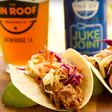 Tin Roof Beer-Brined Pulled Pork Tacos