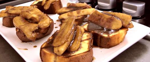Bananas Foster Served Over Pound Cake Recipe