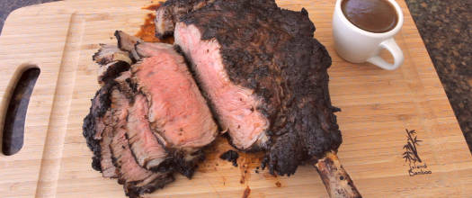 Grilled Espresso Cowboy Ribeye Steak with Stout Beer Sauce Recipe Video