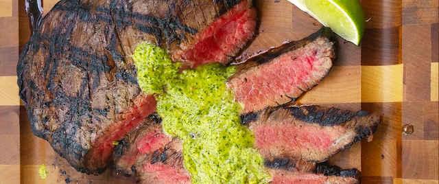 Grilled Brazilian Steak with Homemade Chimichurri Sauce Recipe