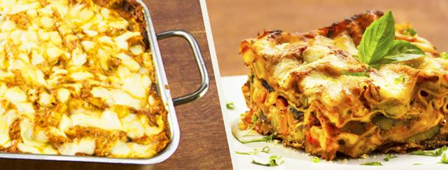 Ribeye Steak Lasagna with Fire Roasted Vegetables Recipe Video