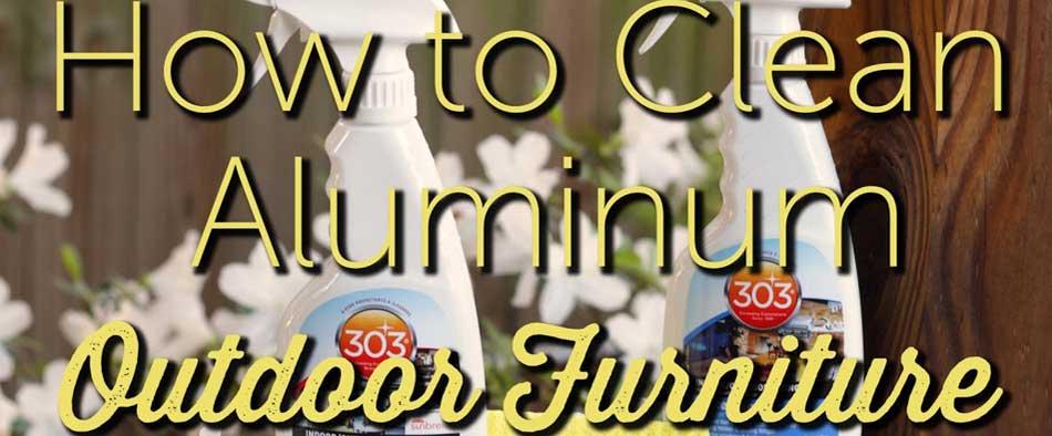 How to Clean Aluminum Outdoor Patio Furniture
