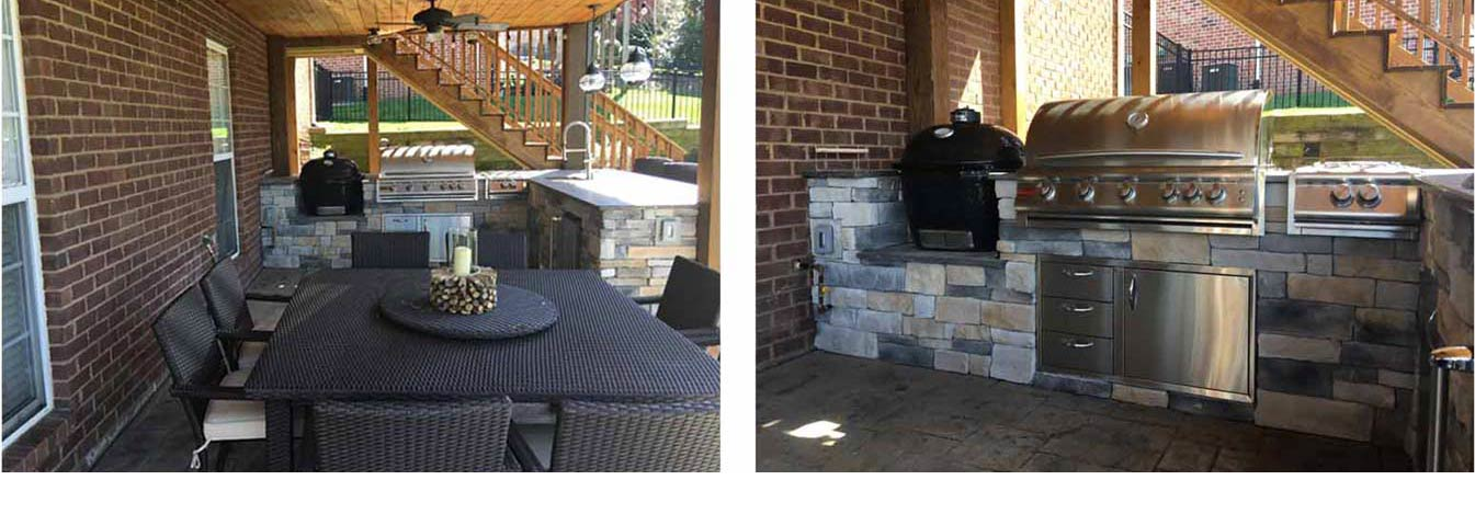 Brick Outdoor Kitchen with Blaze Grill in Tennessee