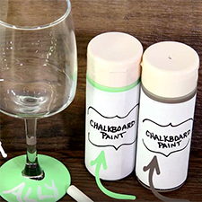 How to Make a Chalk Paint Wine Glass