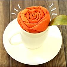 How to Fold a Napkin Rose