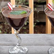 Homemade Thin Mint Martini