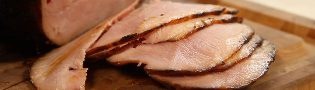 Rotisserie Bourbon & Cane Syrup Glazed Ham on Caliber Crossflame Pro GrillRecipe Video
