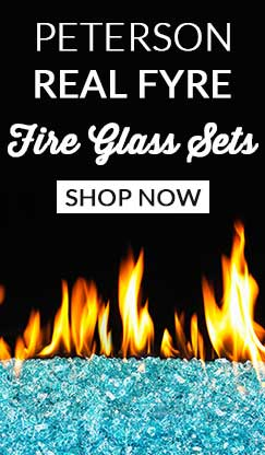 Peterson Real Fyre Fire Glass