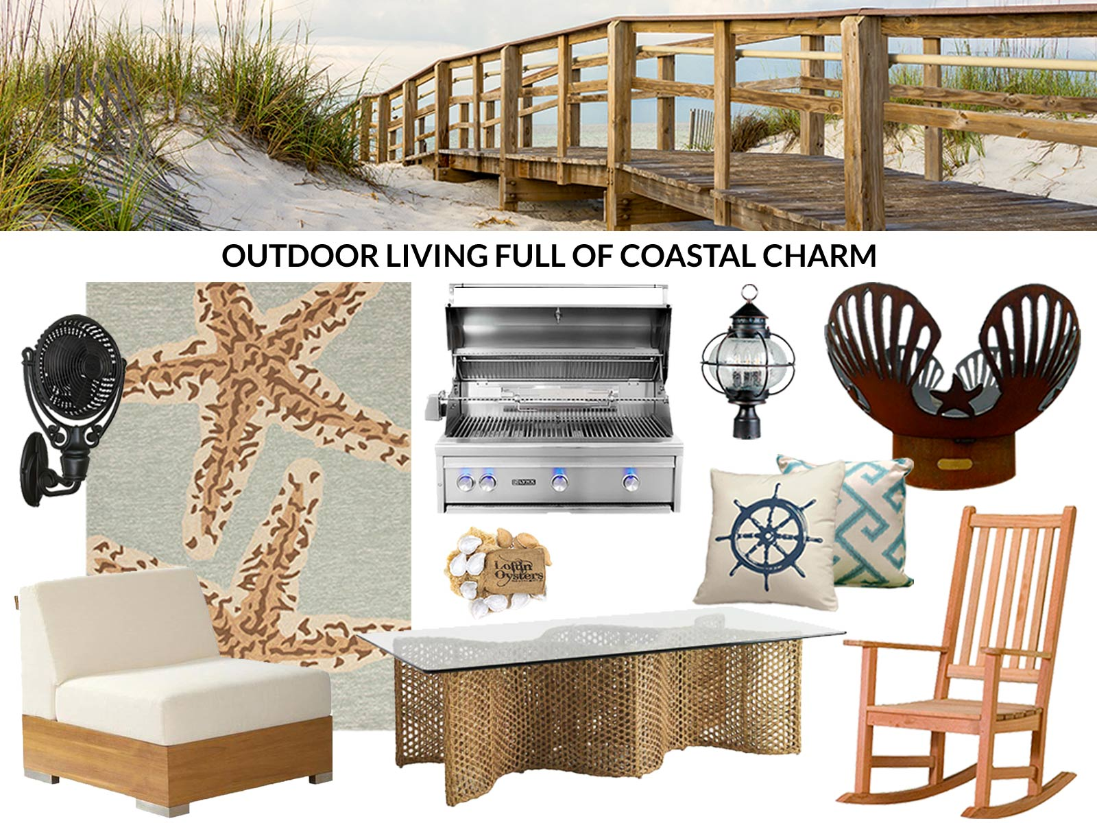How to create Coastal Charm in your outdoor room