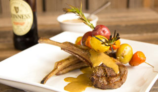 Lamb Chops Served With Guinness