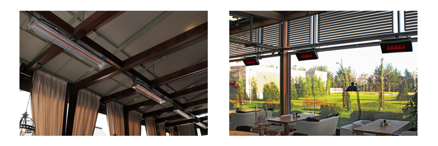 Infratech Flush Mount Electric Infrared Patio Heaters Outdoor Entertaining Area