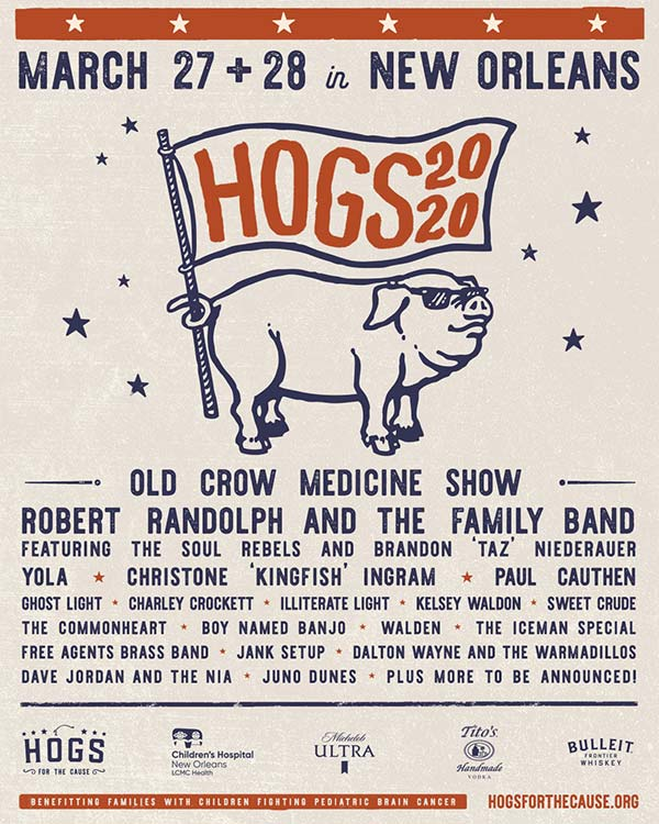 hogs for the cause 2020 poster