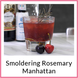 Smoldering Rosemary Manhattan