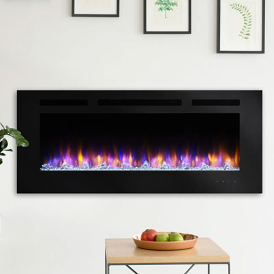 SimpliFire Allusion Wall Mount Electric Fireplace