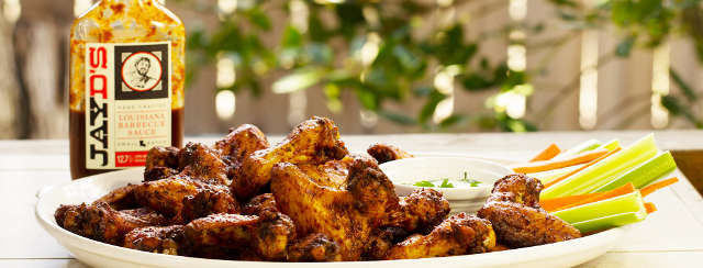 Smoked Fried Chicken Wings with Jay D's Louisiana Barbecue Sauce Recipe
