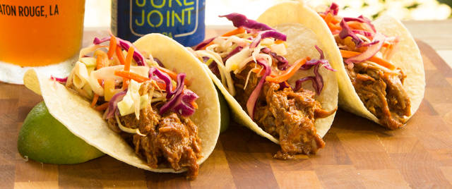 Tin Roof IPA Brined Pulled Pork Tacos with Beer & Pineapple Slaw Recipe Video