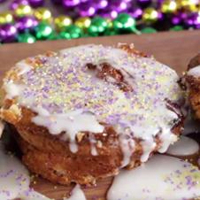 Bourbon Street King Cake Bread Pudding