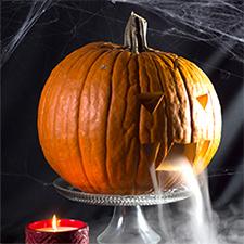 Dry Ice Halloween Pumpkin