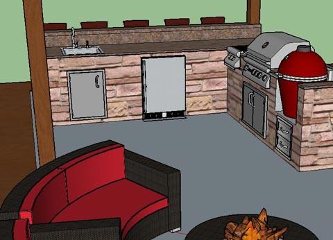 Ultimate Outdoor Kitchen Wishlist Sketch 3