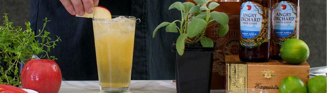 Cider and Smoked Sage Cocktail