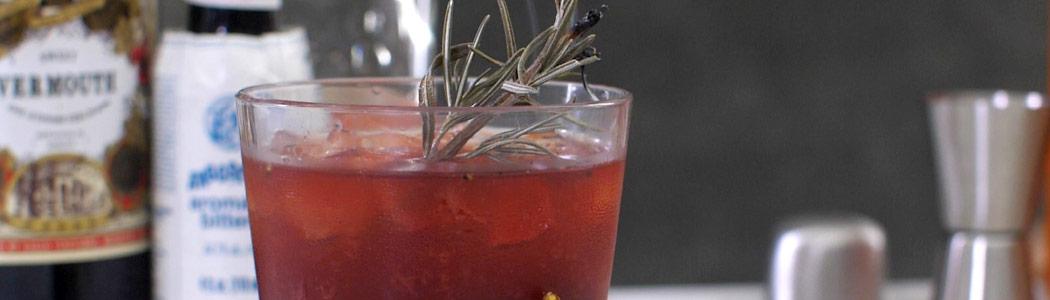 Smoldering Rosemary Manhattan Cocktail