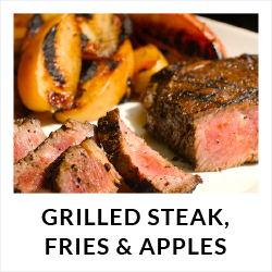 Grilled Steak, Fries & Apples Recipe